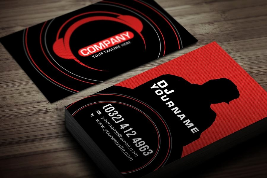 Dj Business Cards Template Inspirational Dj Business Card Template Free