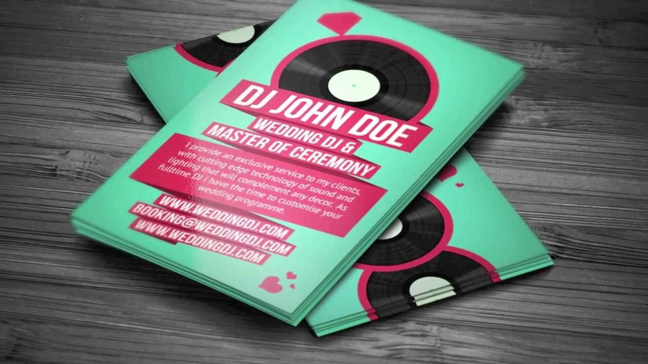 Dj Business Cards Template Inspirational Wedding Dj Business Card Template