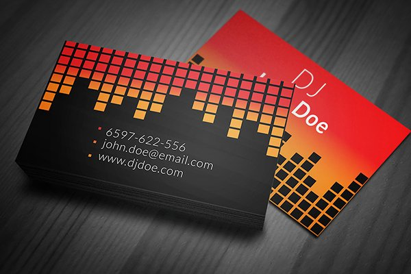 Dj Business Cards Template Luxury Radio Dj Business Card Template On Behance