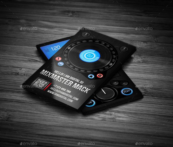 Dj Business Cards Template New 25 Dj Business Card Templates Free & Premium Download
