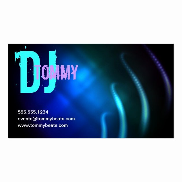 Dj Business Cards Template New Dj Business Card
