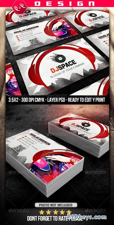 1681 dj business card template