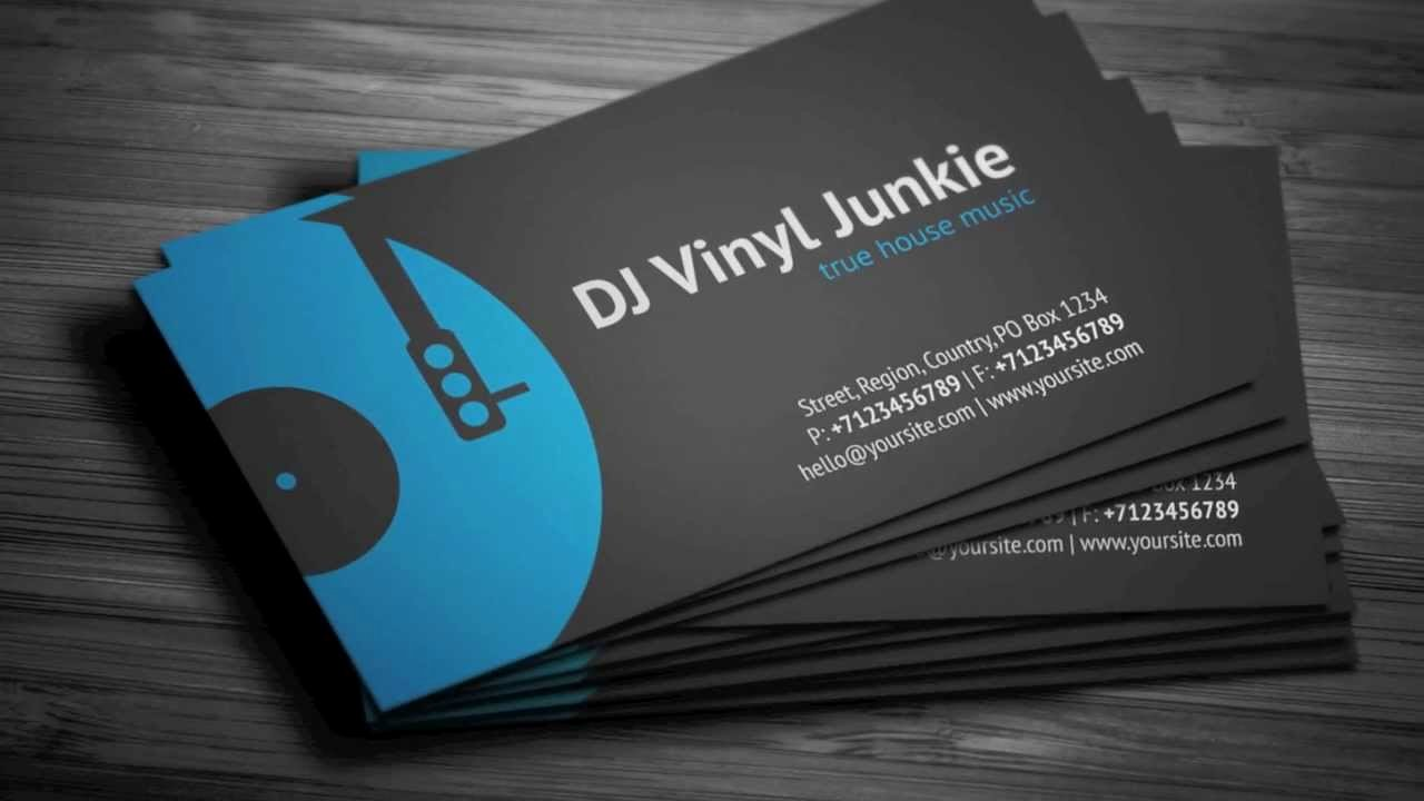 Dj Business Cards Template New Vinyl Dj Business Card Template