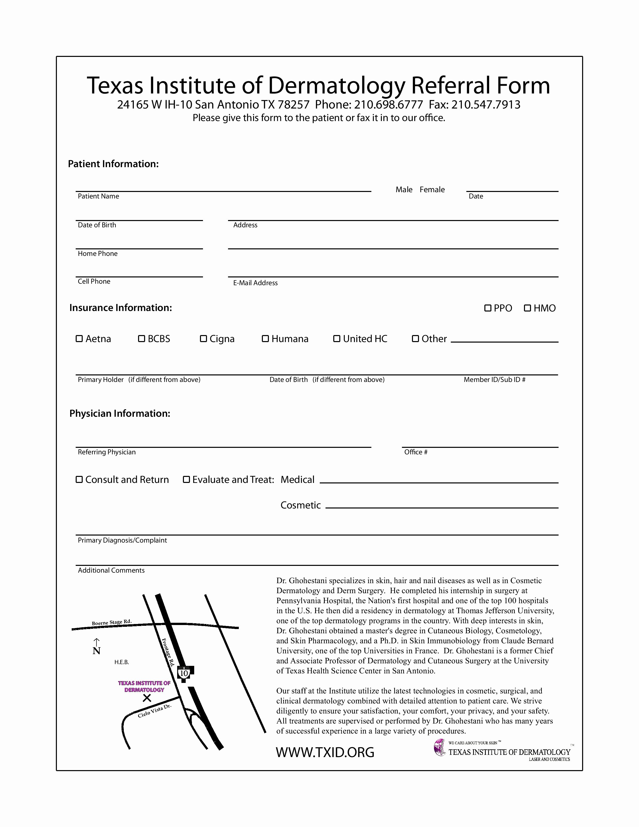 Doctor Referral form Template Best Of Doctor Referral forms