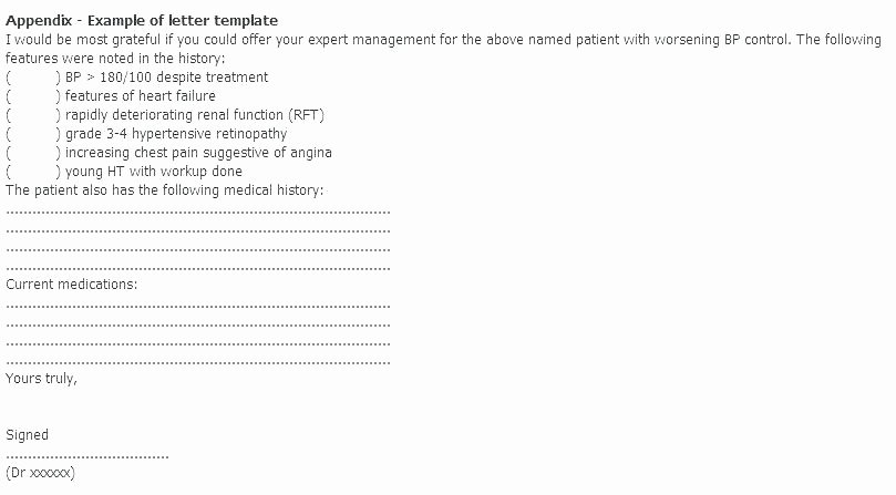 Doctor Referral form Template Best Of Example A Medical Referral Letter Doctor Patient