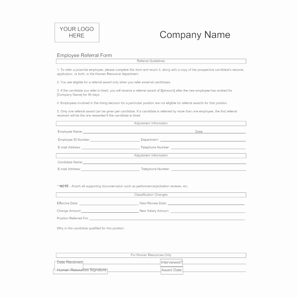 Doctor Referral form Template Elegant Employee Referral form