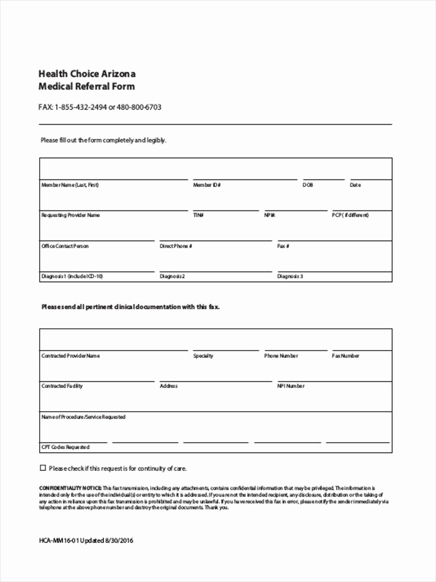 Doctor Referral form Template Elegant Medical Referral form 8 Free Documents In Word Pdf