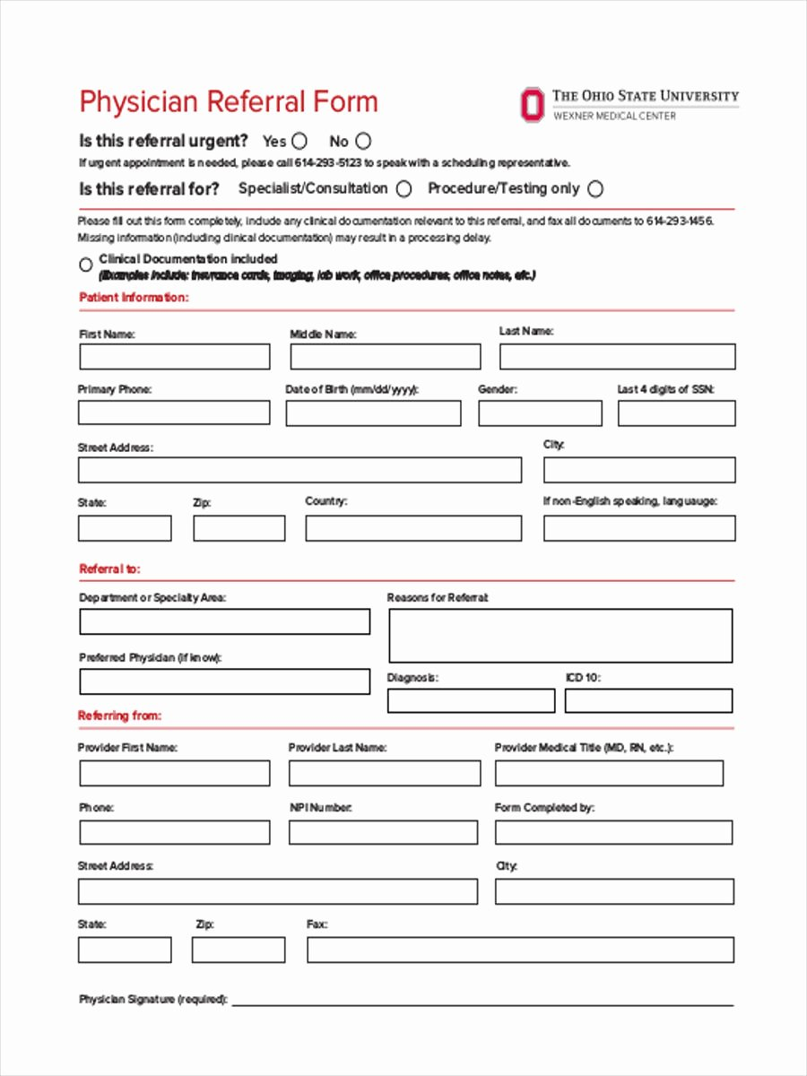 Doctor Referral form Template Lovely Medical Referral form 8 Free Documents In Word Pdf