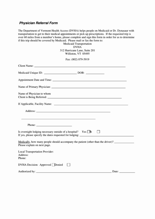 Doctor Referral form Template New 163 Medical Referral form Templates Free to In Pdf