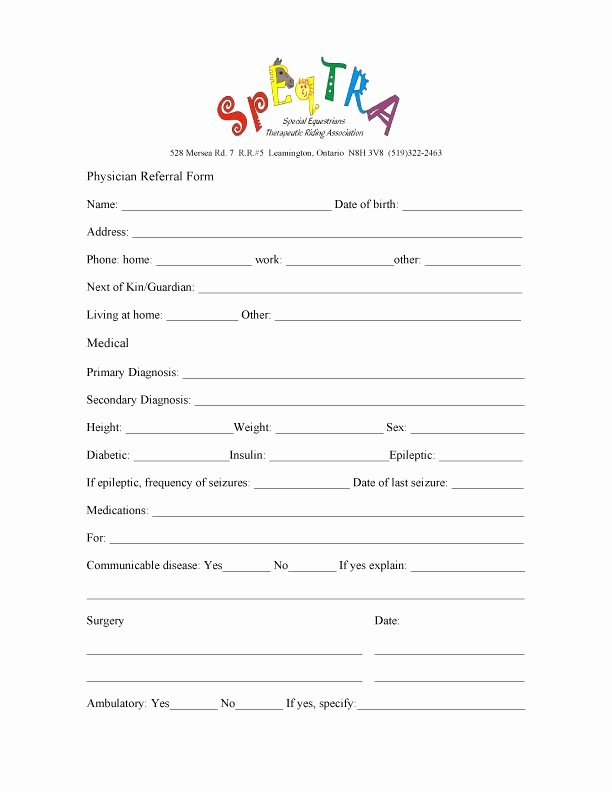 Doctor Referral form Template New Medical Referral form Template – Versatolelive