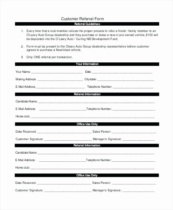Doctor Referral form Template Unique Physician Referral form Template Monster Login Templates