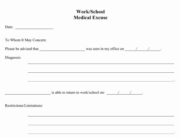 Doctors Notes for Work Template Awesome 21 Free Doctor Note Excuse Templates Template Lab