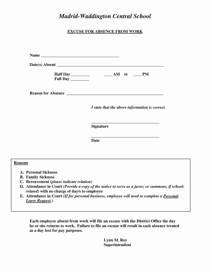 Doctors Notes for Work Template Awesome Doctors Excuse for Work Template