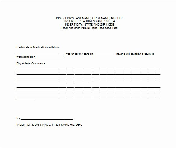 Doctors Notes for Work Template Best Of Doctor Note Templates for Work 6 Free Sample Example