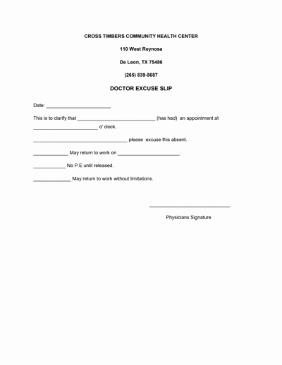 Doctors Notes for Work Template Best Of Doctors Note for Work Template Download Create Fill and