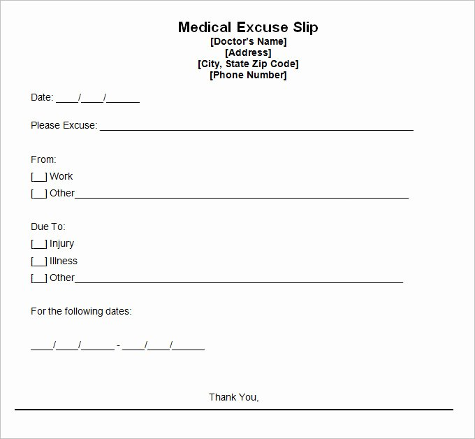 Doctors Notes for Work Template Elegant 9 Doctor Excuse Templates Pdf Doc