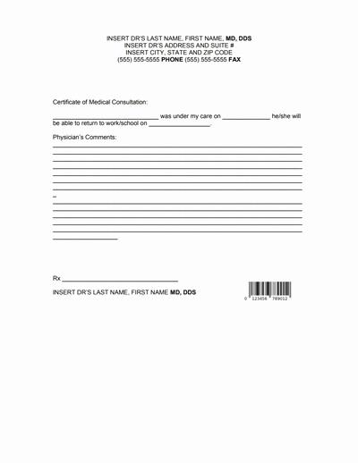 Doctors Notes for Work Template Elegant Doctors Note for Work Template Download Create Fill and