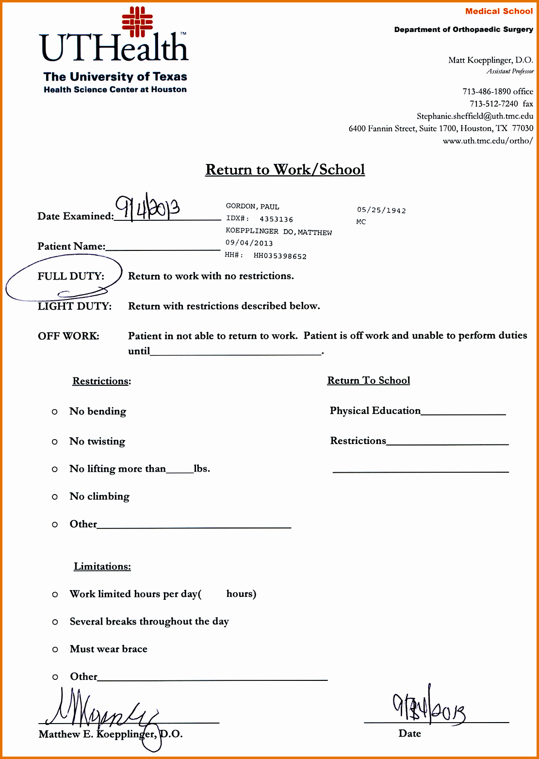 Doctors Notes for Work Template Inspirational 8 Doctors Note for Work Templatereference Letters Words