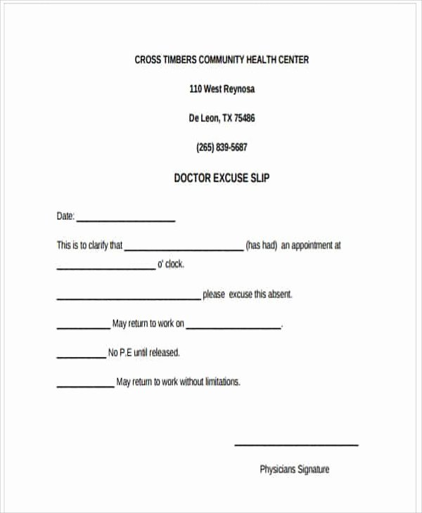 Doctors Notes for Work Template Lovely 34 Free Doctors Note Templates