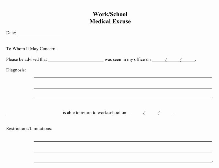 Doctors Notes for Work Template Unique 21 Free Doctor Note Excuse Templates Template Lab