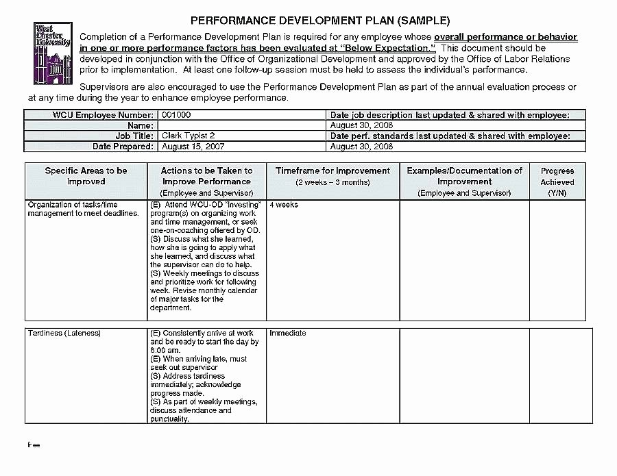 Documenting Employee Performance Template Beautiful Free Performance Appraisal forms Templates Detailed