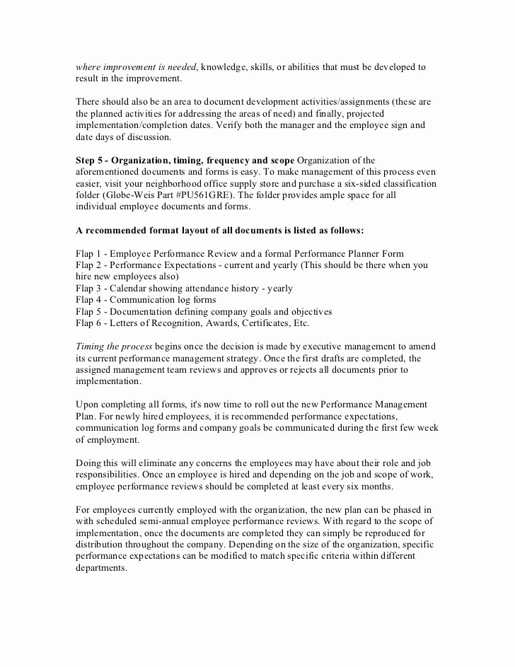 Documenting Employee Performance Template Elegant Employee Performance Evaluation Sample