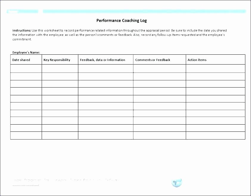 Documenting Employee Performance Template Fresh Intake Session Template Checklist Coaching form Image Tap