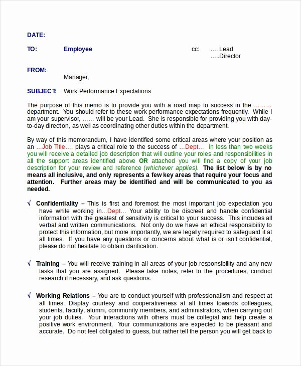 Documenting Employee Performance Template New Employee Memo Template 10 Free Word Pdf Document