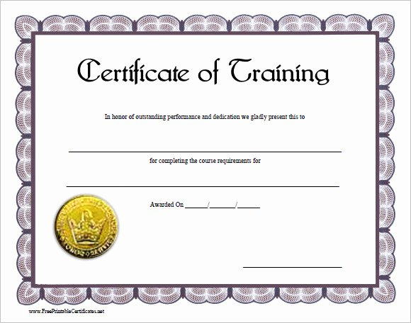 Dog Training Certificate Template Elegant Firearm Bill Sale Template