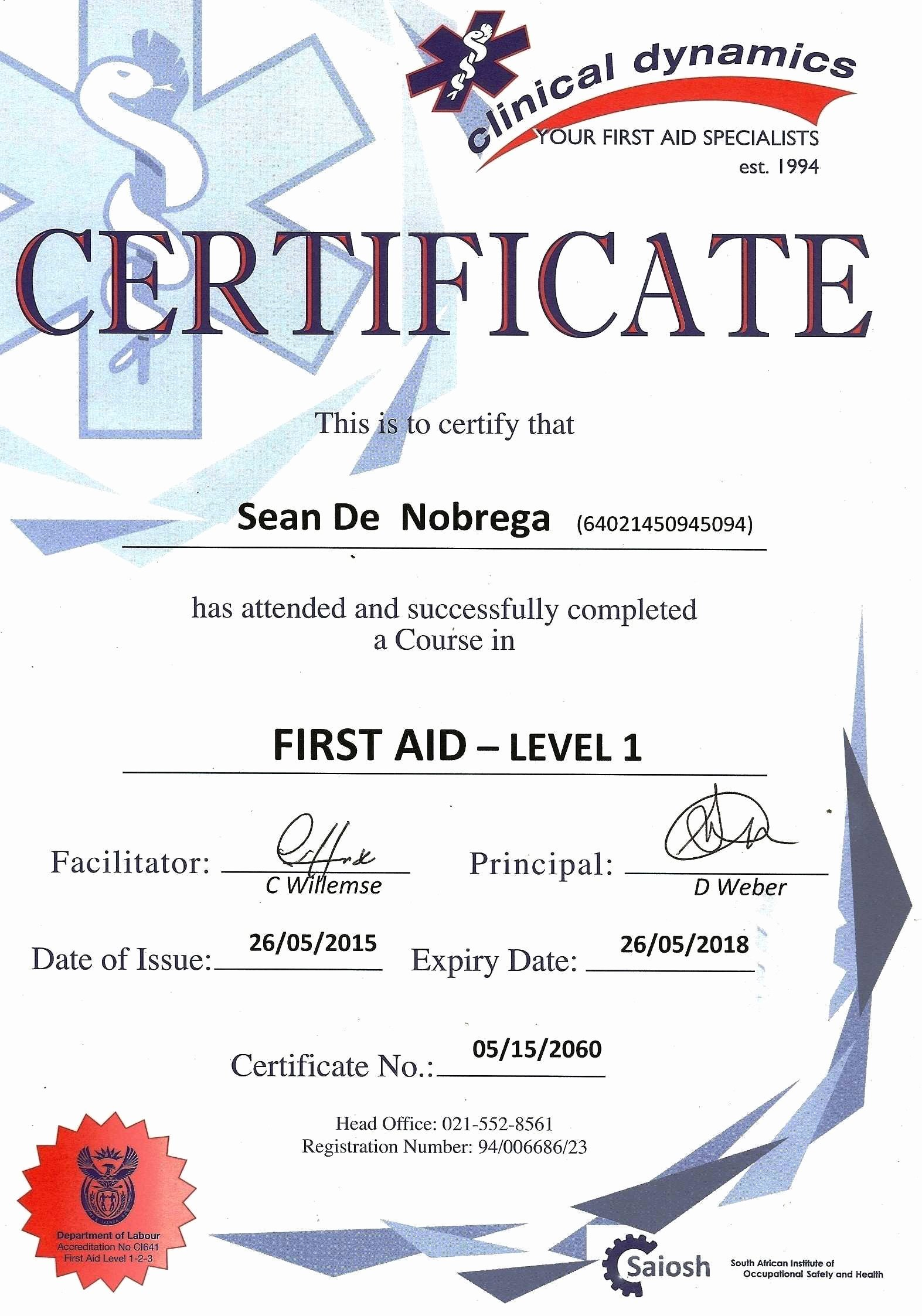 Dog Training Certificate Template Elegant Fresh Cpr First Aid Certification Line – Crisia