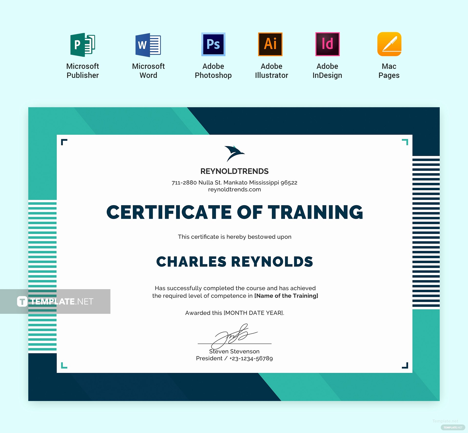 Dog Training Certificate Template Fresh Free Pany Training Certificate Template In Adobe