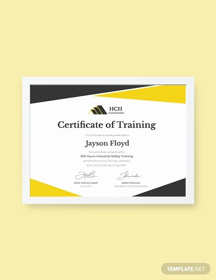 Dog Training Certificate Template Inspirational Free Industrial Training Certificate Template Download