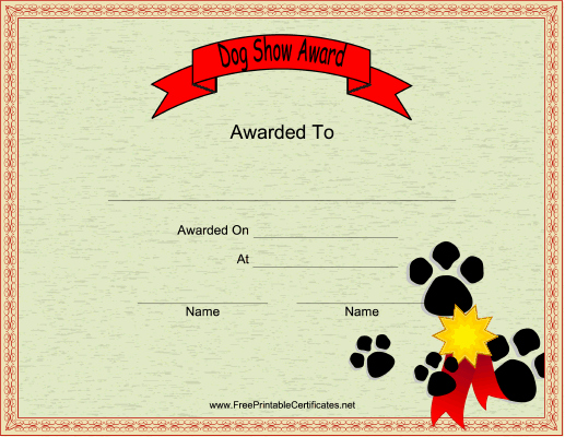Dog Training Certificate Template Lovely This Printable Certificate Honors A Participant In A Dog