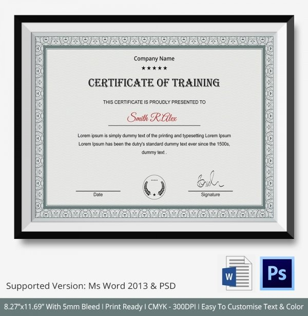 Dog Training Certificate Template Luxury Training Certificate Template 21 Free Word Pdf Psd