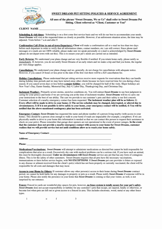Dog Training Contract Template Beautiful top Pet Sitting Contract Templates Free to In Pdf