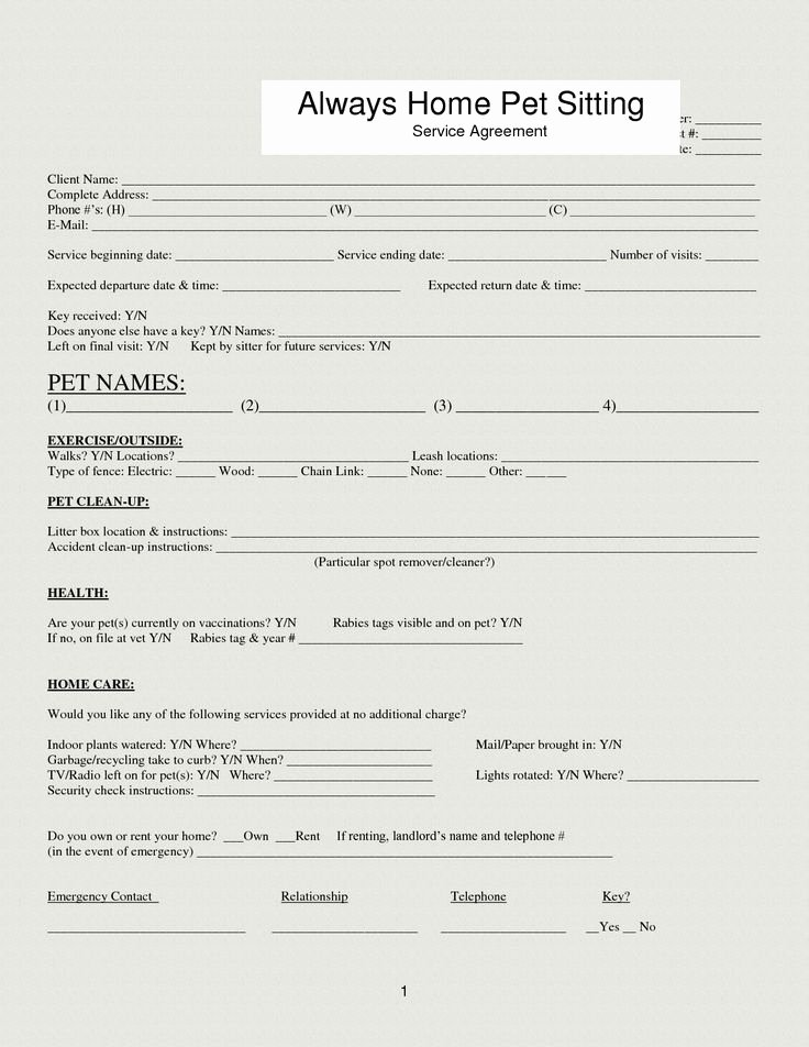 Dog Training Contract Template Fresh 33 Best Images About Dog forms On Pinterest