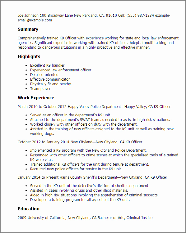 Dog Training Contract Template Fresh Government & Military Resume Templates to Impress Any