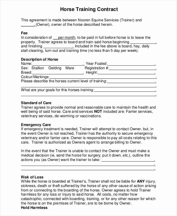 Dog Training Contract Template Lovely 8 Training Contract Samples & Templates In Pdf