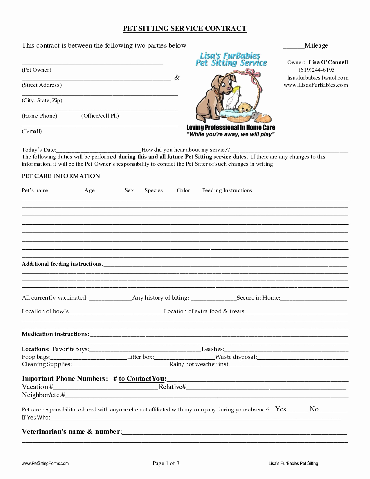 Dog Training Contract Template Luxury Pet Sitting Contract Templates Dogs Pinterest