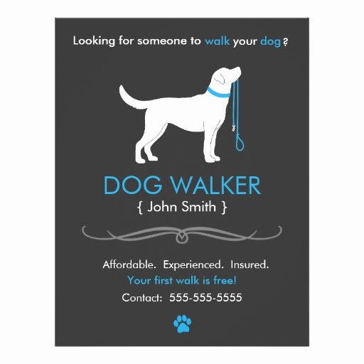 Dog Walking Flyer Template Awesome Dog Walker Walking Business Flyer Template