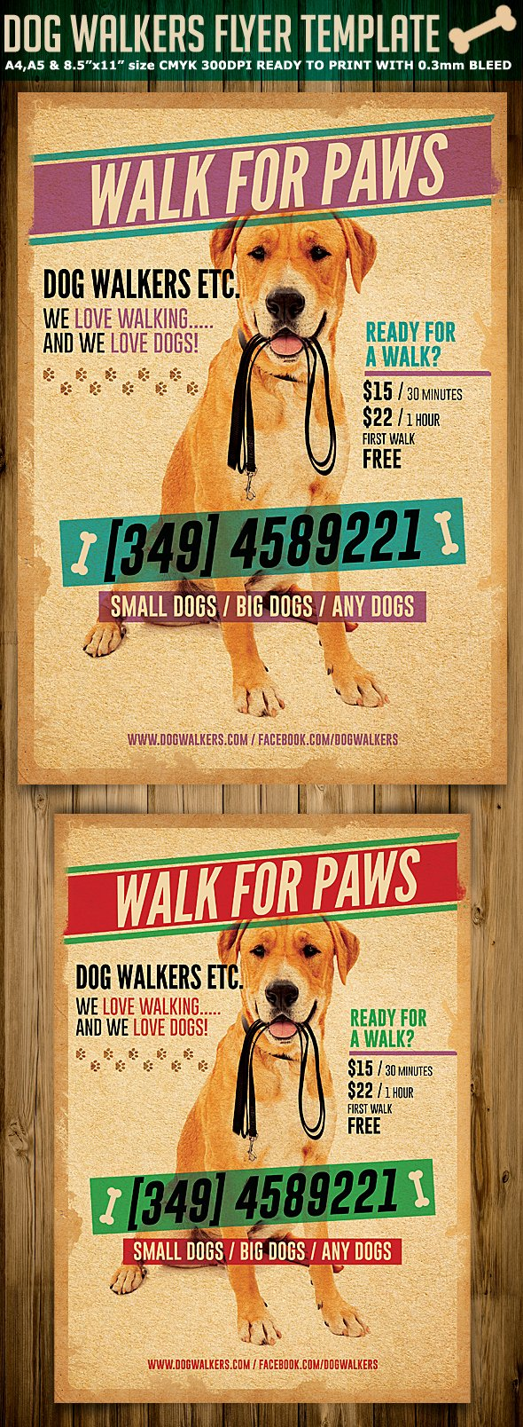 Dog Walking Flyer Template Beautiful Dog Walkers Flyer Template 2 On Behance