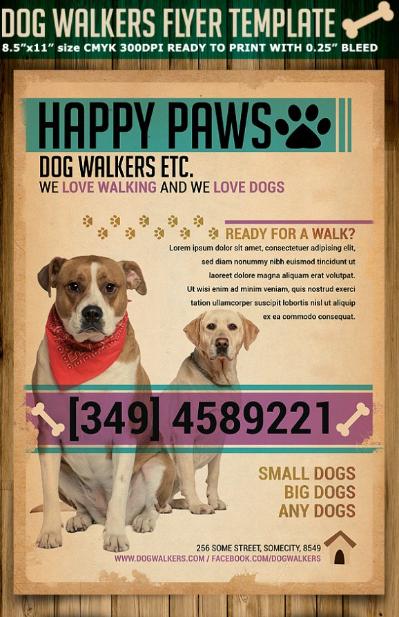 Dog Walking Flyer Template Beautiful Dog Walkers Flyer Template