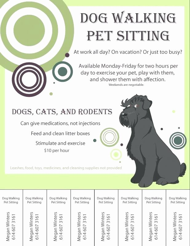 Dog Walking Flyer Template Beautiful Free Dog Walking Flyer Template Graficasxerga