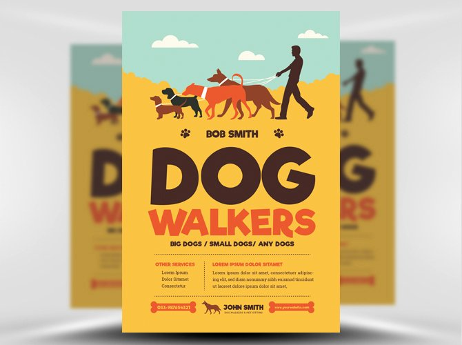 Dog Walking Flyer Template Best Of Dog Walkers Flyer Template Flyerheroes