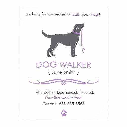 Dog Walking Flyer Template Elegant Dog Walker Walking Business Flyer Template