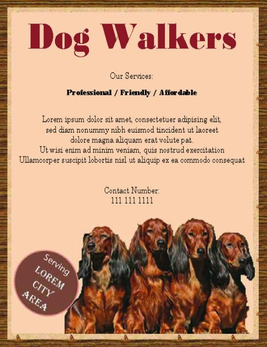 Dog Walking Flyer Template Fresh 25 Dog Walking Flyers for Small Dog Sitting Businesses