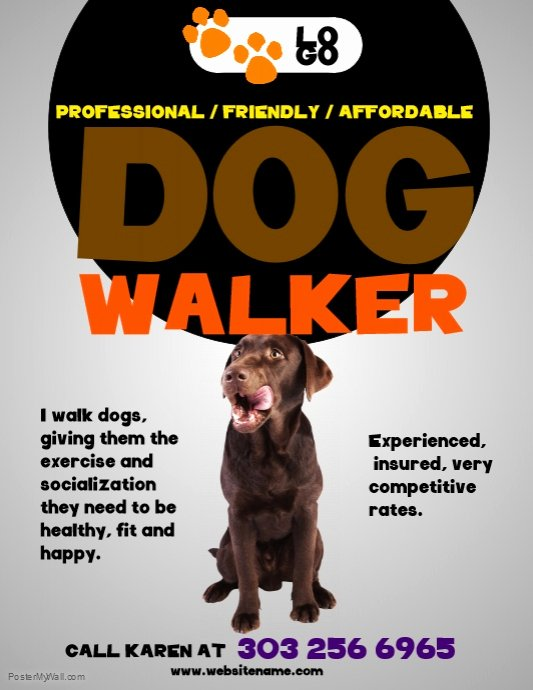 Dog Walking Flyer Template Fresh Dog Walkers Flyer Template