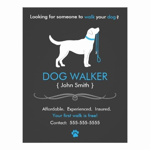 Dog Walking Flyer Template Inspirational Dog Walker Walking Business Flyer Template
