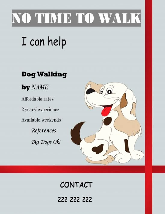 Dog Walking Flyer Template Lovely 25 Dog Walking Flyers for Small Dog Sitting Businesses