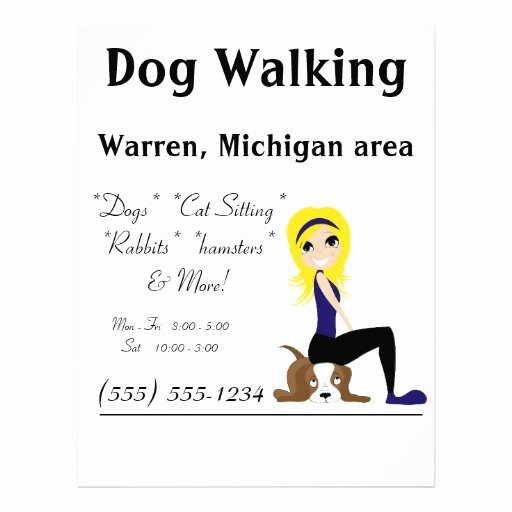 Dog Walking Flyer Template Lovely 9 Best Of Errand Service Flyer Templates